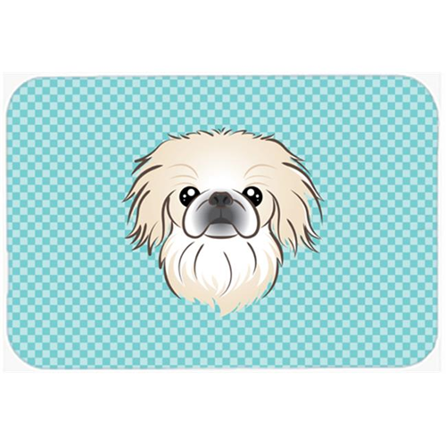 Carolines Treasures BB1159MP Checkerboard Blue Pekingese Mouse Pad Hot Pad Or Trivet 7.75 x 9.25 In.