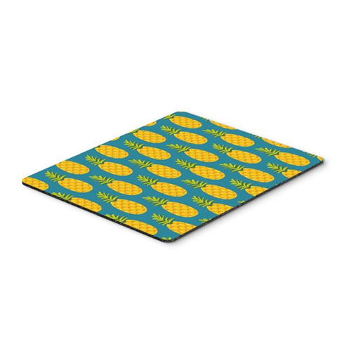 Carolines Treasures BB5145MP Pineapples on Teal Mouse Pad Hot Pad or Trivet