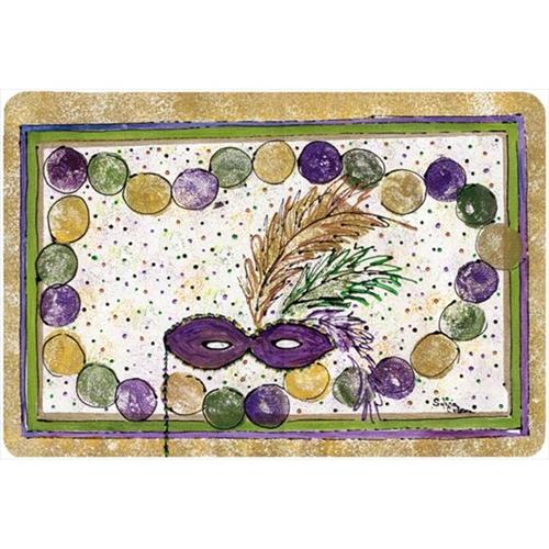 Carolines Treasures 8059MP 9.5 x 8 in. Mardi Gras Beads Mouse Pad Hot Pad Or Trivet