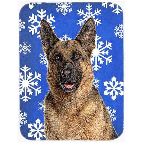 Carolines Treasures KJ1180MP Winter Snowflakes Holiday German Shepherd Mouse Pad Hot Pad or Trivet