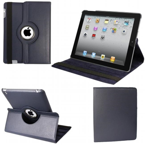 Natico 60-IM360-NBL IPAD MINI 360 CASE FAUX NAVY BLUE