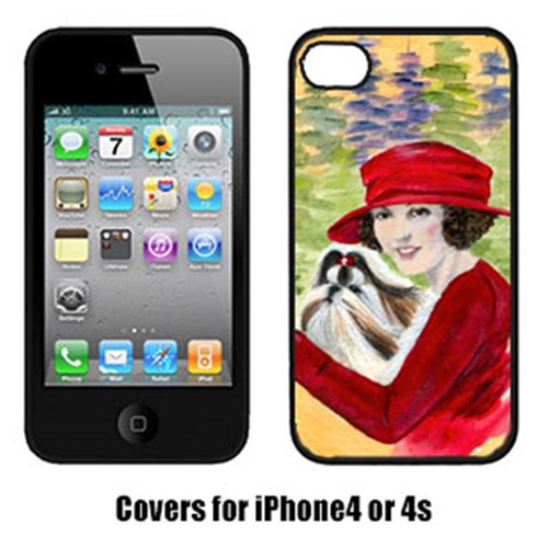 Carolines Treasures SS8539IP4 Lady Driving With Her Shih Tzu Iphone4 Cover