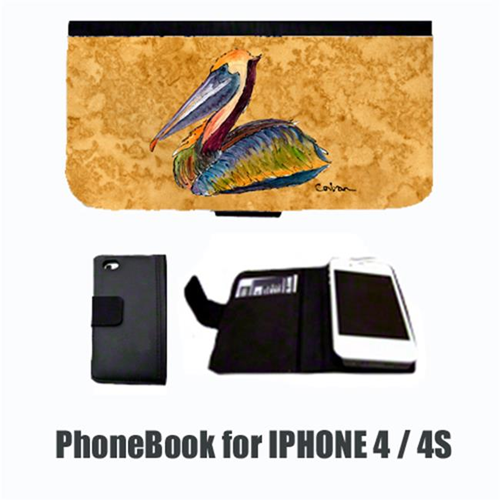 Carolines Treasures 8690-NBIP4 Bird Pelican Cell Phonebook Cell Phone case Cover for IPHONE 4 or 4S