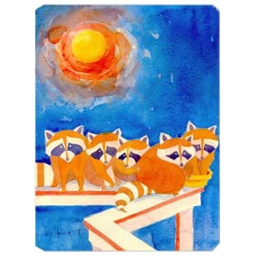 Carolines Treasures 6009MP 9.5 x 8 in. Raccoons on the porch Mouse Pad Hot Pad Or Trivet