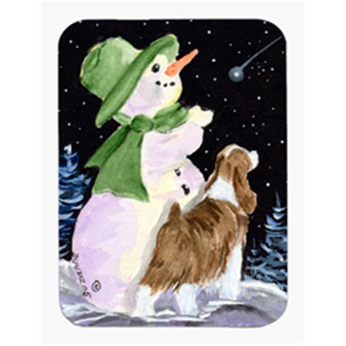 Carolines Treasures SS8949MP Snowman with English Springer Spaniel Mouse Pad & Hot Pad & Trivet