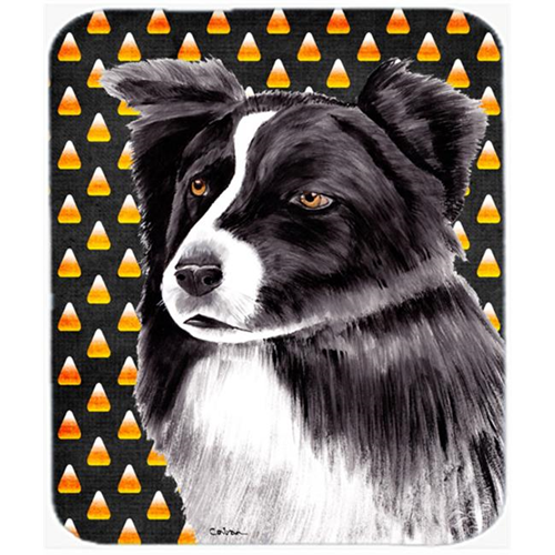 Carolines Treasures SC9177MP Border Collie Candy Corn Halloween Portrait Mouse Pad Hot Pad Or Trivet
