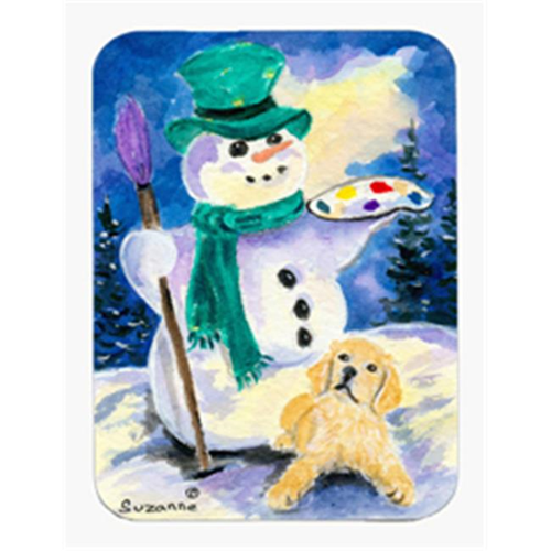 Carolines Treasures SS8994MP Snowman with Golden Retriever Mouse Pad & Hot Pad & Trivet