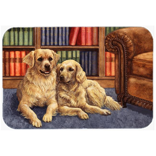 Carolines Treasures BDBA0289MP Golden Retrievers in the Library Mouse Pad Hot Pad or Trivet