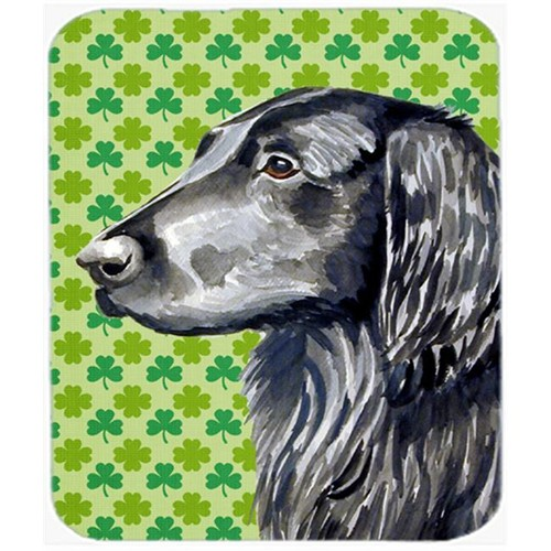 Carolines Treasures LH9186MP Flat Coated Retriever St. Patricks Day Shamrock Mouse Pad Hot Pad or Trivet
