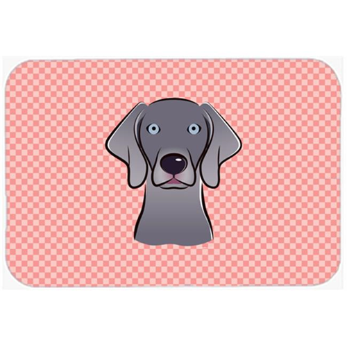 Carolines Treasures BB1231MP Checkerboard Blue Weimaraner Mouse Pad Hot Pad Or Trivet 7.75 x 9.25 In.