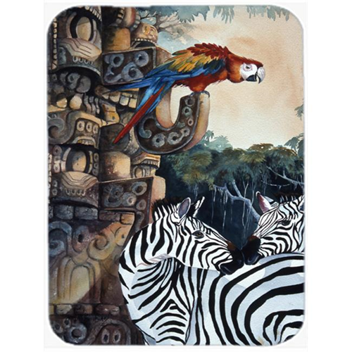 Carolines Treasures JMK1200MP Zebras And Parrots Mouse Pad Hot Pad & Trivet