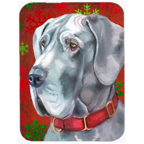 Carolines Treasures LH9577MP Great Dane Red Snowflakes Holiday Christmas Mouse Pad Hot Pad & Trivet