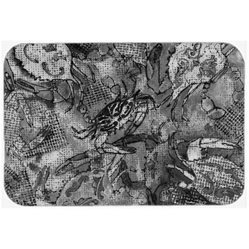 Carolines Treasures 8953MP Grey Canvas Abstract Crabs Mouse Pad Hot Pad & Trivet