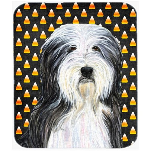 Carolines Treasures SS4290MP Bearded Collie Candy Corn Halloween Portrait Mouse Pad Hot Pad Or Trivet