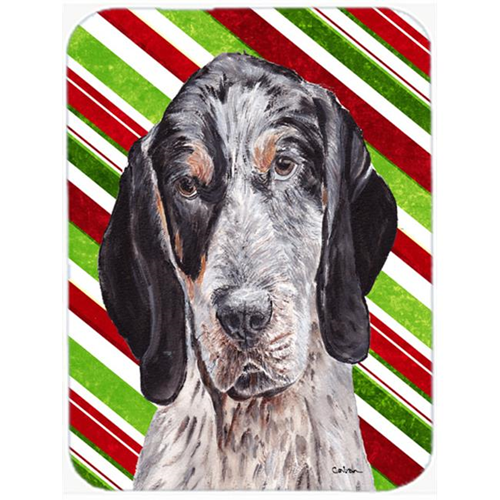 Carolines Treasures SC9793MP Blue Tick Coonhound Candy Cane Christmas Mouse Pad Hot Pad Or Trivet 7.75 x 9.25 In.