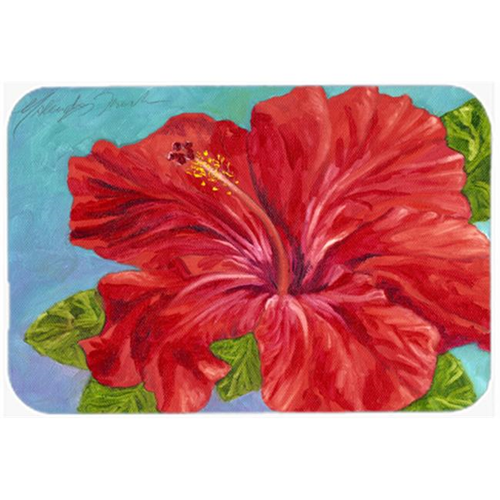Carolines Treasures TMTR0319MP Red Hibiscus by Malenda Trick Mouse Pad Hot Pad or Trivet