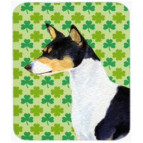 Carolines Treasures SS4445MP 9.5 x 8 in. Basenji St. Patricks Day Shamrock Portrait Mouse Pad Hot Pad or Trivet