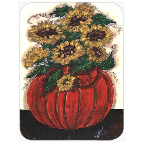 Carolines Treasures CN5066MP 7.75 x 9.25 In. Pumpkin full of flowers Mouse Pad Hot Pad or Trivet