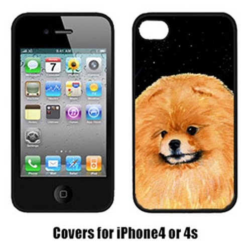 Carolines Treasures SS8481IP4 Starry Night Pomeranian Cell Phone Cover Iphone 4