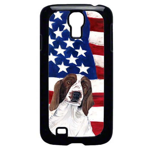 Carolines Treasures SC9024GALAXYS4 USA American Flag with Welsh Springer Spaniel Cell Phone Cover GALAXY S4