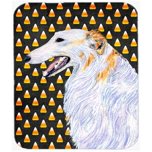 Carolines Treasures SS4268MP Borzoi Candy Corn Halloween Portrait Mouse Pad Hot Pad Or Trivet