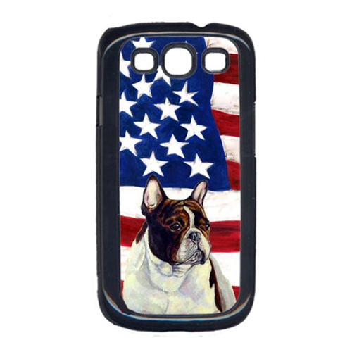 Carolines Treasures LH9006GALAXYS3 USA American Flag with French Bulldog Cell Phone Cover GALAXY S111