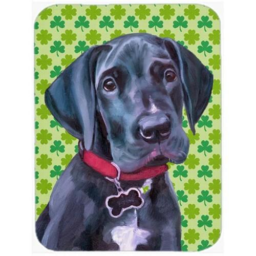 Carolines Treasures LH9572MP Black Great Dane Puppy St. Patricks Day Shamrock Mouse Pad Hot Pad & Trivet