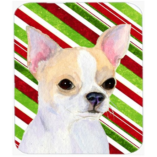 Carolines Treasures SS4543MP Chihuahua Candy Cane Holiday Christmas Mouse Pad Hot Pad Or Trivet