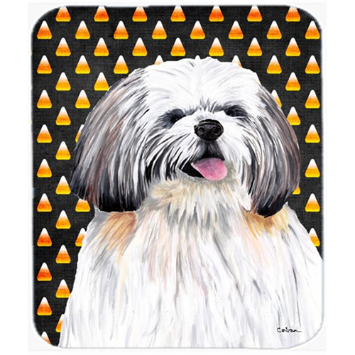Carolines Treasures SC9164MP Shih Tzu Candy Corn Halloween Portrait Mouse Pad Hot Pad Or Trivet