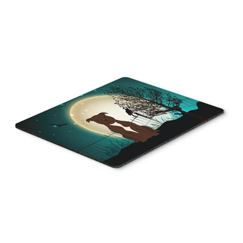 Carolines Treasures BB2238MP Halloween Scary Staffordshire Bull Terrier Chocolate Mouse Pad Hot Pad or Trivet