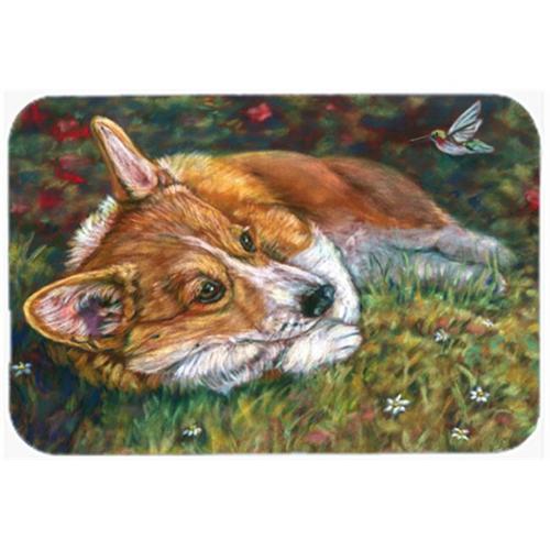 Carolines Treasures 7326MP Corgi Pastel Hummingbird Mouse Pad Hot Pad & Trivet