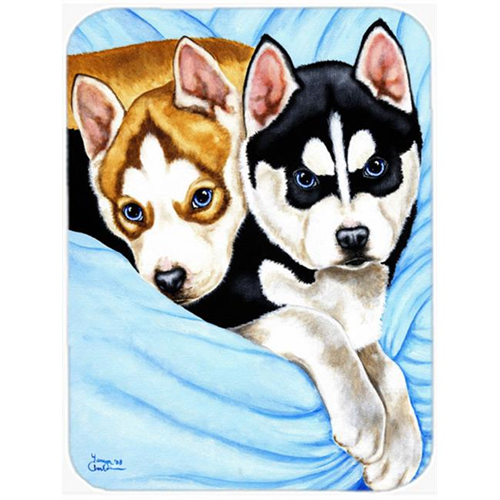 Carolines Treasures AMB1327MP Snow Angels Siberian Husky Mouse Pad Hot Pad or Trivet