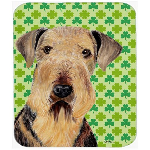 Carolines Treasures SC9293MP Airedale St. Patricks Day Shamrock Portrait Mouse Pad Hot Pad or Trivet