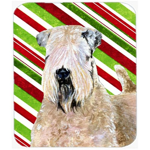 Carolines Treasures SS4562MP Wheaten Terrier Soft Coated Candy Cane Christmas Mouse Pad Hot Pad Trivet