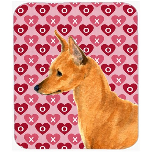 Carolines Treasures SS4466MP Min Pin Hearts Love And Valentines Day Portrait Mouse Pad Hot Pad Or Trivet