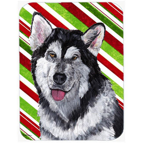 Carolines Treasures SC9490MP 7.75 x 9.25 In. Alaskan Malamute Candy Cane Holiday Christmas Mouse Pad Hot Pad Or Trivet