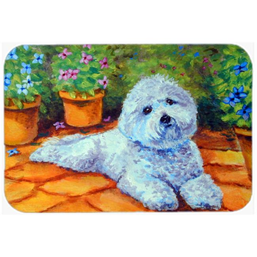 Carolines Treasures 7346MP Bichon Frise On The Patio Mouse Pad Hot Pad & Trivet