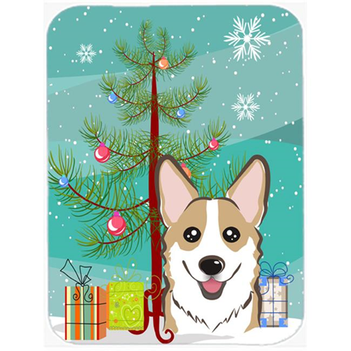 Carolines Treasures BB1625MP Christmas Tree And Sable Corgi Mouse Pad Hot Pad & Trivet