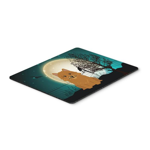 Carolines Treasures BB2210MP Halloween Scary Norwich Terrier Mouse Pad Hot Pad or Trivet