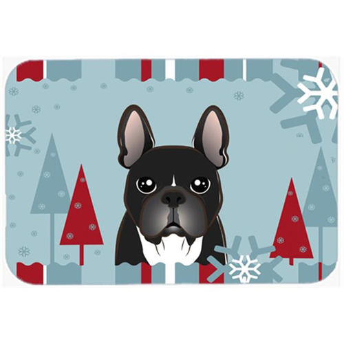 Carolines Treasures BB1723MP Winter Holiday French Bulldog Mouse Pad Hot Pad & Trivet