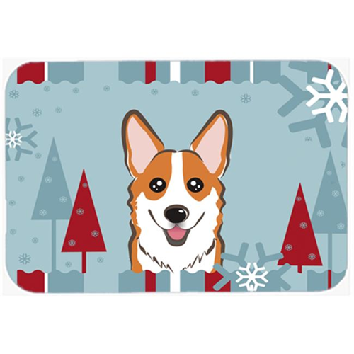 Carolines Treasures BB1750MP Winter Holiday Red Corgi Mouse Pad Hot Pad & Trivet