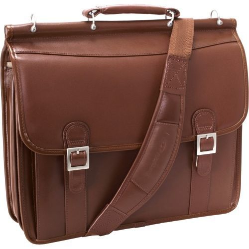 McKlein HALSTED 80334 Brown Double Compartment Laptop Case