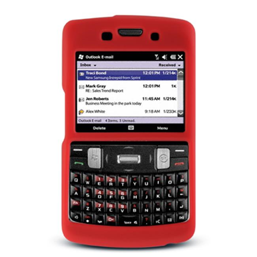 DreamWireless SCSAMI350RD-PR Samsung Ace 2 Intrepid & I350 Premium Skin Case Red