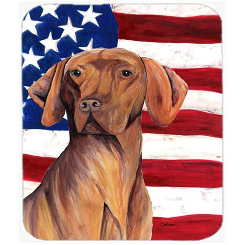 Carolines Treasures SC9022MP Usa American Flag With Vizsla Mouse Pad Hot Pad Or Trivet