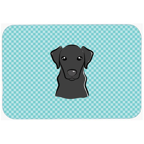Carolines Treasures BB1173MP Checkerboard Blue Black Labrador Mouse Pad Hot Pad Or Trivet 7.75 x 9.25 In.