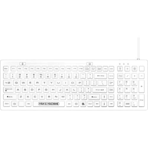 Man & Machine DCOOL-W5 C3 Planet D Cool Keyboard White