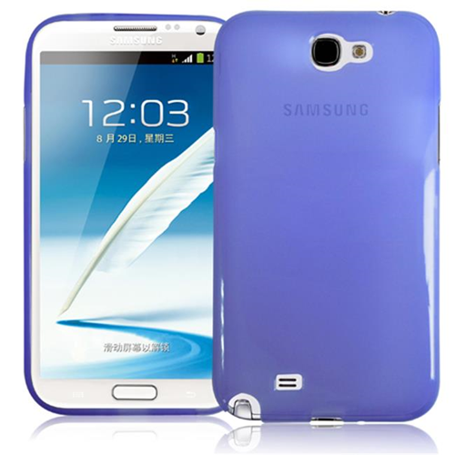 RND Accessories TPU Protective Case For Samsung Galaxy Note II - Transparent Purple