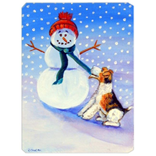 Carolines Treasures 7156MP 8 x 9.5 in. Snowman with Fox Terrier Mouse Pad