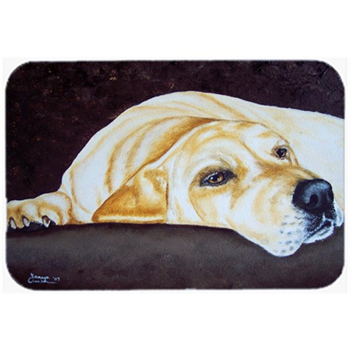 Carolines Treasures AMB1072MP Naptime Yellow Labrador Mouse Pad Hot Pad or Trivet