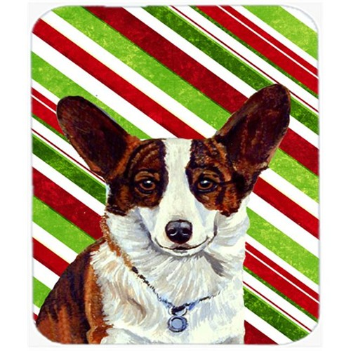 Carolines Treasures LH9243MP Corgi Candy Cane Holiday Christmas Mouse Pad Hot Pad Or Trivet